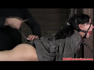 Submissive skank in scarification treatment
