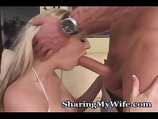 Sexy wife drilled by huge cock