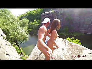 WILD PUBLIC FUCKING ON A HIGH CLIFF IN CANYON. MIA BANDINI