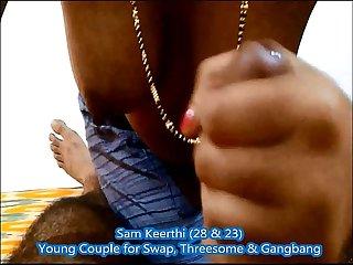 Keerthi s erotic hand job to her hubby sam