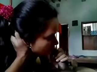 Desi cute Indian girlfriend sucking lovers cock and fucking (new)