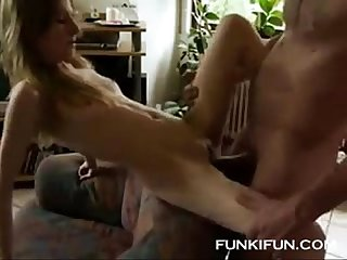 Skinny wife creampied by a thick cock