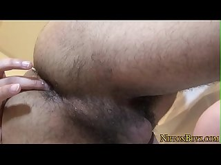 Gay asian solo stroking