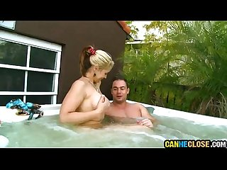 Phoenix marie sucks dick at the hottub
