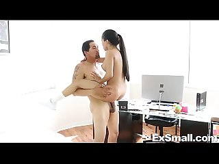 Tiny latina sucks and fucks