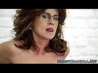 Spex grandma jizz soaked