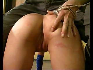 Hot comma sexy blonde gets hard punishment