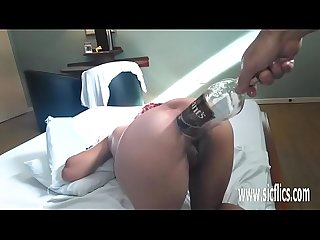 Extreme anal fisting and xxl whiskey bottle fuck