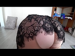 Girlfriend Fuck busty blonde comma mature Bbw doggystyle shakes A big booty in pantyhose period