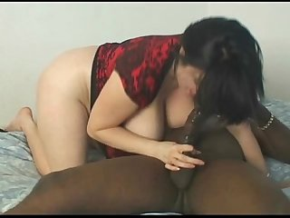 Busty chubby milf sneaks away to fuck black man while hubby vacations