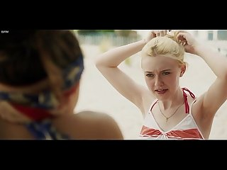 Elizabeth olsen dakota fanning naked swimming hot Underwear very good girls 2013