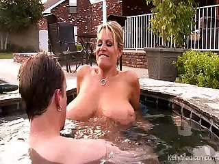 Busty wife getting fucked in the jacuzzi