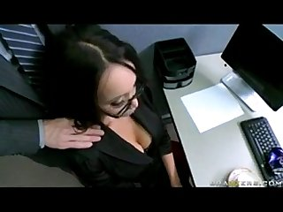 BIG TIT ASIAN OFFICE SLUT CAUGHT MASTURBATING IN HEELS with Johnny Sins View more videos on..