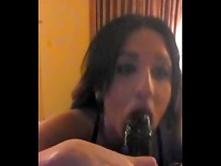 Ts sloppy blowjob