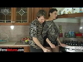 Nasty mature stepmom in dark pantyhose ready for everything after oral foreplay