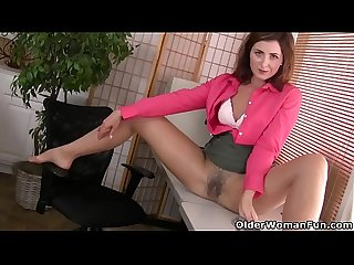 American milf helena doesn t wear panties at the office