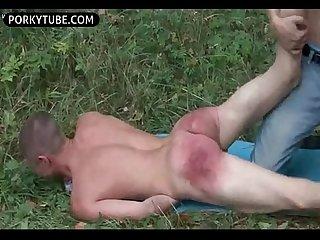 Butt spanking