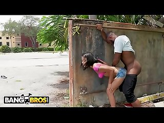 BANGBROS - Ebony Maya Bijou Gets Fucked in Public By Multiple Guys