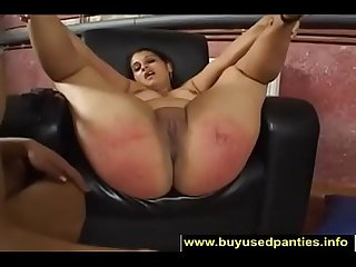 Her Big Round Juicy Ass Gets Spanked-1