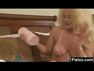 Alluring Fisting Lady Screwed Hard