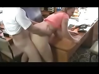 Hot BBW with Big Titsand Visits Her Man's Office For a Quickie