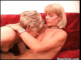 Two horny lesbian mature sluts having