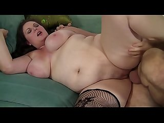 Mature and chubby pig enjoys enjoying the cock of the boss