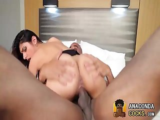 Interracial-Play With Groovy Porno-Star And BBC MonsterCock
