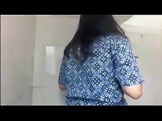 asian teen flashing tits in public toilet