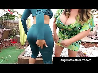 Cuban BBW Angelina Castro Bangs Ms. Raquel With StrapOn!
