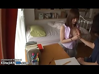 Japanese home teacher fucks shy student more at elitejavhd com