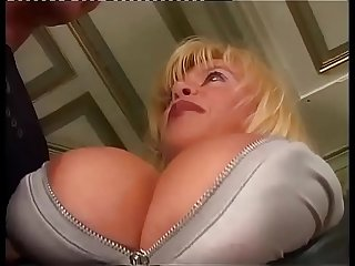 Amazing milf with big tits sucked and slammed