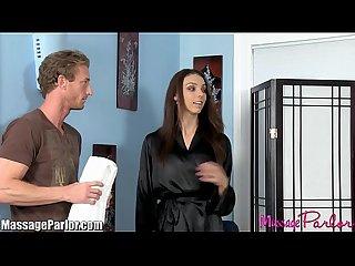 Massageparlor skinny big tits babe massage and 69