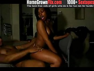 Fine ass chick riding dick - HomeGrownFLIX.com - homemade ebony amateur