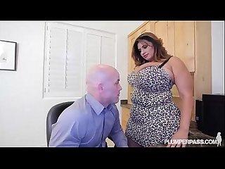 Busty latina milf Sofia rose fucks her coworker derrick