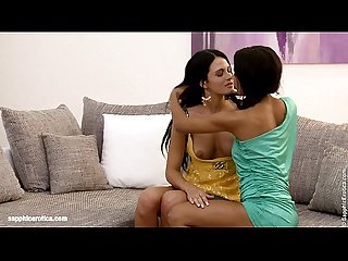 Racy twosome by sapphic erotica lesbian sex with niccole izabella
