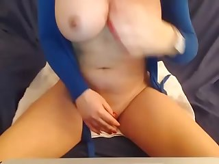 Teen with big tits play to dildo on webcam- wach more on..