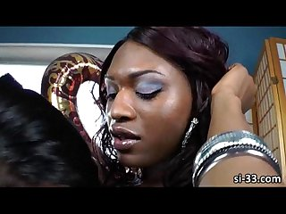 Alluring ladyboy and ebony shemales jessica fox and chanel couture rips asses