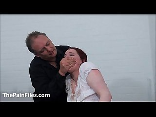 Bizarre spanking and messy humiliation of enslaved Isabel Dean in degrading domi
