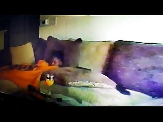 Real spy cam roommate caught her masturbating