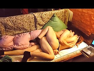 Romantic and passionate sex. Couple in love have homemade sex
