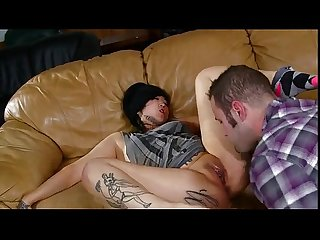 Tattooed asian babysiter fucking by boss