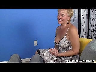 Mature swinger gets loads