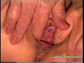 Playing with my pierced pussy