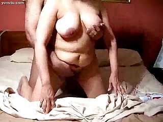 Indian Desi wife with black