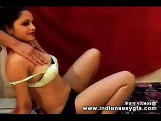 Hot Desi Anjana indian girl dance squeezing her boobs on live sex webcam