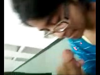 Chandigarh teen girlfriend gets cum all over her body after blowjob