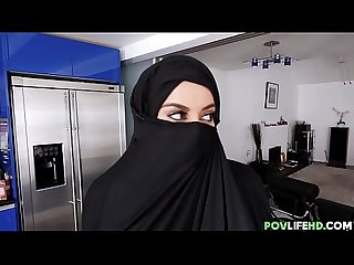 Sexy hijab wife with curves fucked