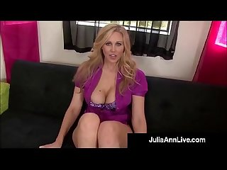 Smoking Hot Mommy Julia Ann Gives A POV BlowJob & FootJob!