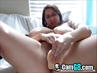 Chubby nerd orgasms hard on cam camg8